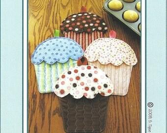 Cupcake Oven Mitt Potholder Pattern to Make DIY Sewing Susie C Shore Designs