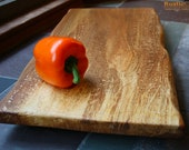 Charcuterie Board - Unique Wedding Gift - Rustic Serving Platter - X-Large Spalted Black Cherry 114 - rusticcraftdesign