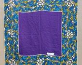 c.1986 Silk Tiffany and Company T Design Square Scarf, 36x36