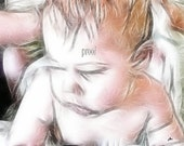 The Watercolor Baby Photograph