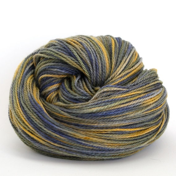 Sale 20% Off - Zeta - Hand Dyed Polwarth Wool Silk DK Sport Yarn - Colorway: Dusk