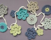 Crochet Garland / Shelf Trim / Granny Chic / Shabby Chic / Boho / Rustic. Ready to ship.