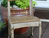 RESERVED-Vintage Child's School Chair Envoy Wood and Metal