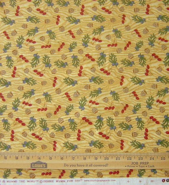 Cotton Flannel Fabric, Debbie Mumm for SSI Imports, 5 Yards (LS)