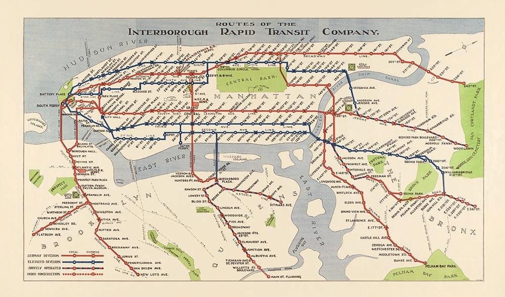 Irt Subway Map