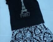 Girls Eiffel Tower Skirt Girls Fall paris skirt paris skirt eiffel tower skirt fall skirt toddler skirt twirly skirt