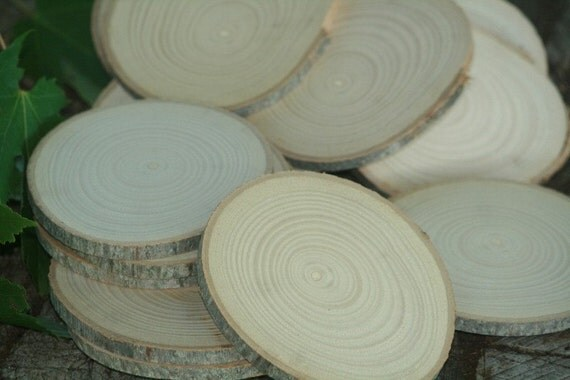 RESERVED Listing For Elizabeth and Nick-220 count approx 3and 1/2 to 4 inch dia Hickory Disc