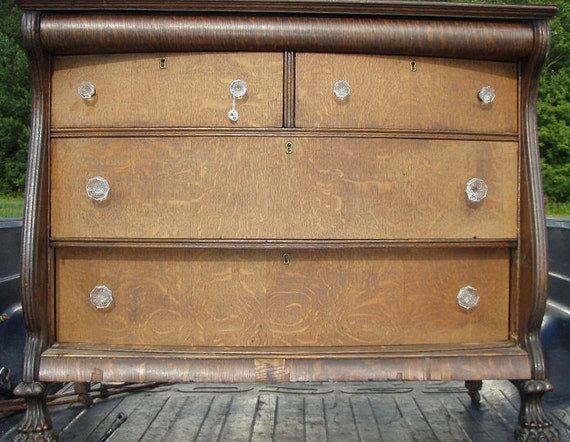 Items Similar To Antique Claw Foot Dresser On Etsy