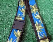 LUGGAGE STRAP, Hawaiian,  Palm Tree, Blue,  Adjustable, Free Shipping
