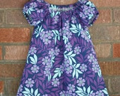 Purple Floral Infant Peasant Dress