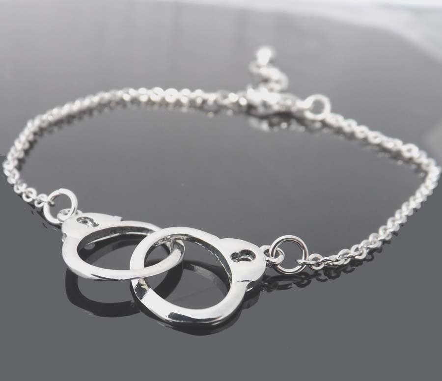 handcuff charm bracelet handcuff friendship bracelet