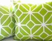 Trina Turk Trellis Bright Apple Green pillow cover 18 x 18