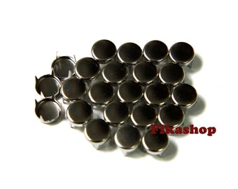 20% Off Clearance SALE: 9mm 100pcs Silver flat head round studs / HIGH Quality - Fikashop