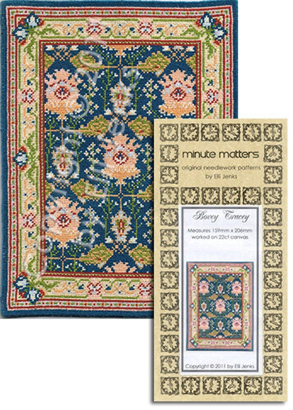 Dollhouse Carpet Pattern - Bovey Tracey (Arts & Crafts Style)