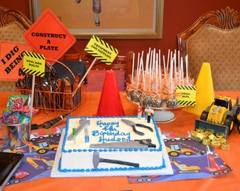 Boys Birthday Truck and Construction Theme - Home Depot Party