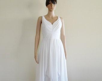 Elegant White Prom Dress.Wedding Dress.Bridesmaid Dress.Party Dress