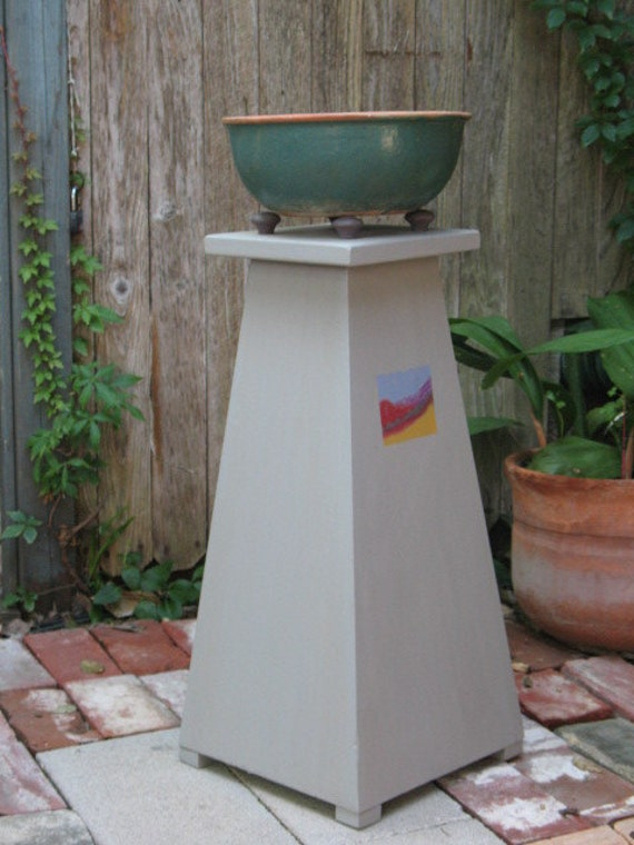 Plant Stand - wood stand - painted stand - outdoor stand - cedar stand - porch stand - side table