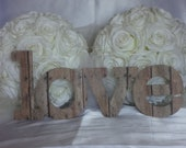 Personalized LOVE Sign - Rustic Barn Wood