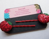 DELICIOUS RED APPLE Bobby Pins by Juste Jolie Recipe included in Description
