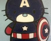 Captain America Hello Kitty Avengers Logo Decal