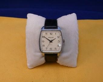 "USSR (Soviet Union)  ""POLJOT"" (flight) wrist watch 1960-70 Rare BIG unusual case Ultra rare Perfect"