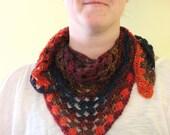 Crochet Shawl, Shawlette, Scarf, Granny Square Chic