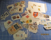 Lot of World Stamps Supplies for paper ephemera Upscale Artwork 80 plus
