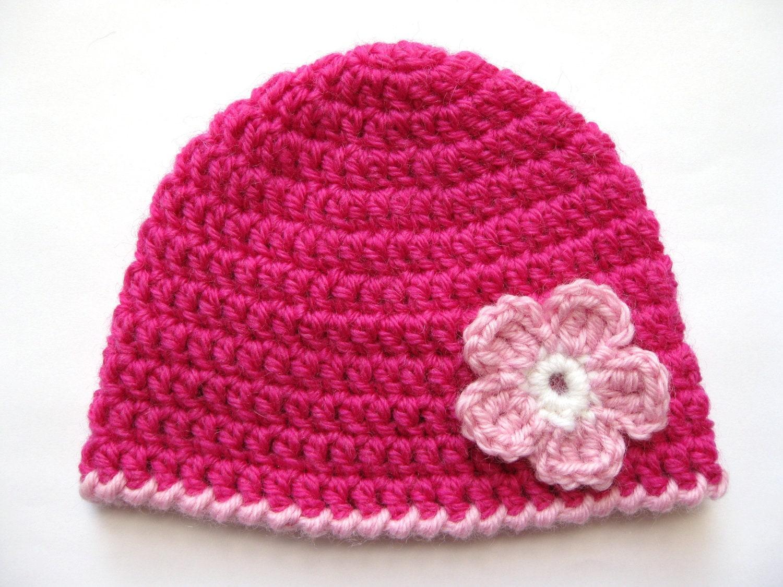 Instant Download PATTERN Crochet PREEMIE Hat Crochet Pink ...