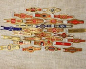 ON SALE 150 Assorted Vintage Lithographed Cigar Bands - 30 Different Brands / Designs - Unused from 1940s and Earlier