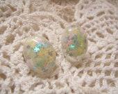 Sparkly Pastel Stars Resin Earrings