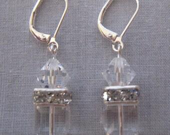 Swarovski Crystal Earrings - Nickel Free Leverbacks (N1381)