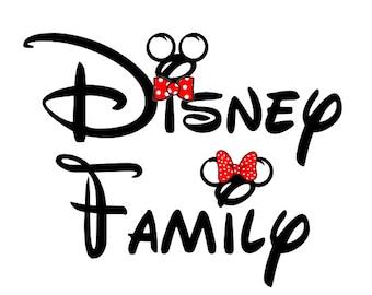 Disney Shirt Disney Family Iron on Transfer Decal(iron on transfer, not digital download)
