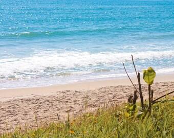 Beach wall art Ocean Waves photograph Instant Download Beach Photography blue sea wall art Coastal art