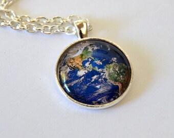 Planet Earth Pendant Necklace