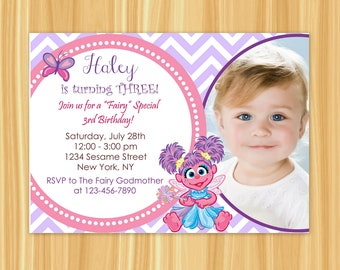 Abby Cadabby Invitation | Abby Cadabby Birthday Party | Abby Cadabby Party | Sesame Street Party
