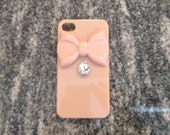 Neutral iPhone case with bow