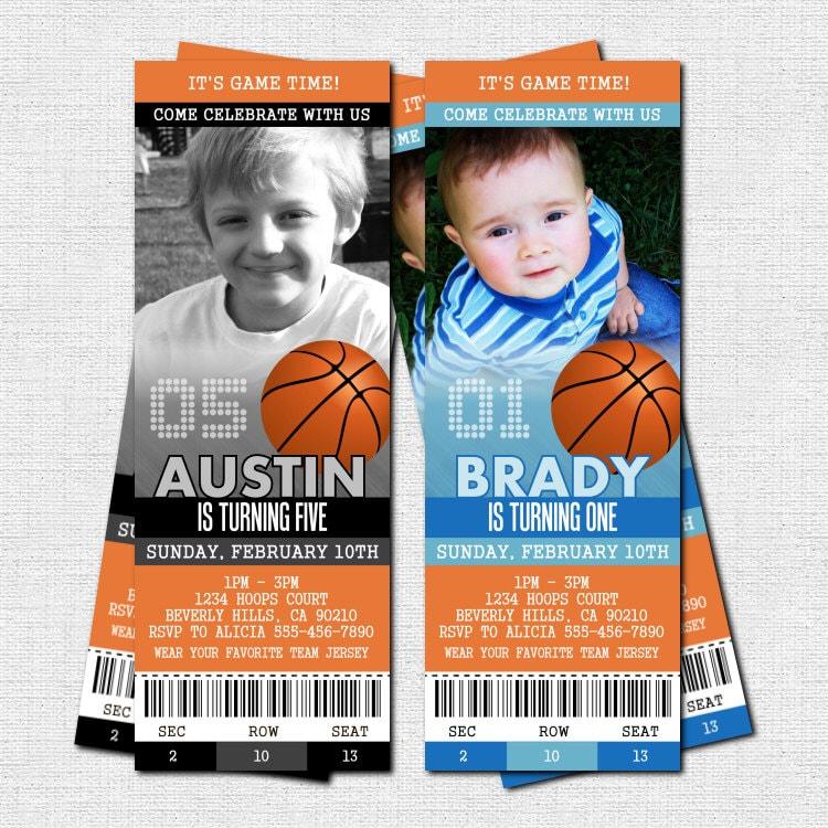 basketball ticket invitations birthday party bonus by nowanorris. Black Bedroom Furniture Sets. Home Design Ideas