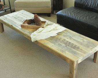 Reclaimed wood coffee table - (Extra Large)