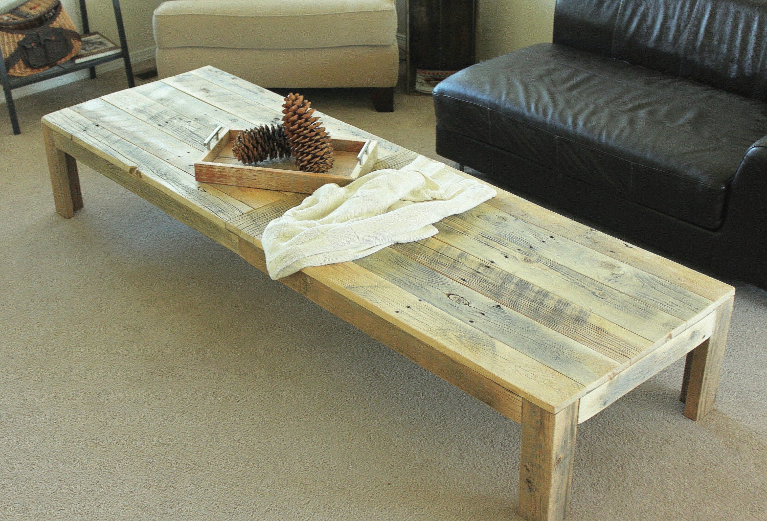 Reclaimed Wood Coffee Table Extra Large