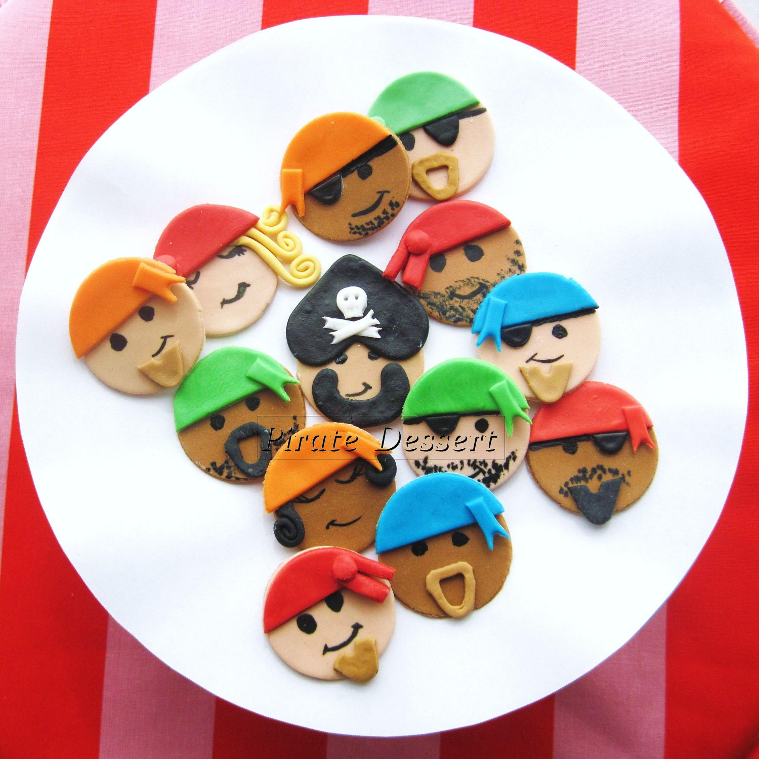Edible Pirate Cake Toppers