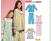McCall's M5969 Little Girl Pajama Pattern or Nightgown Pattern, New (uncut) - Select Size Range, Rated Easy