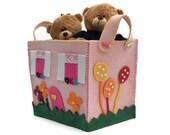 Felt Basket , Felt Storage, Toys Box, Storage Basket, Lego Storage, Felt Organizer, Children Room, Baby Shower, Toddler Party