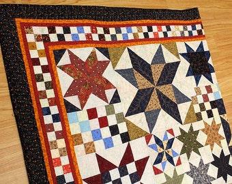 Star Sampler Patchwork Quilt
