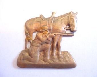 Western Shooter Brass Stamping Cowboy #B20