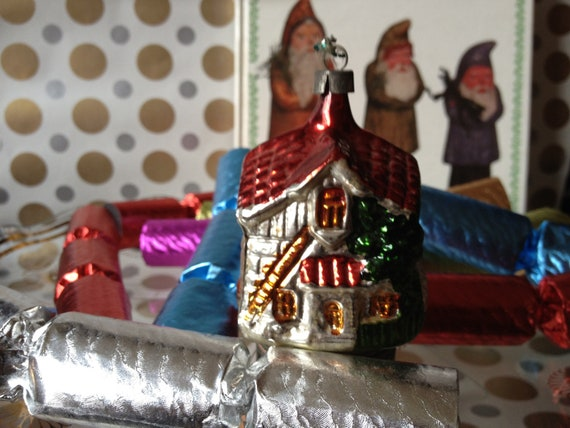 Vintage Mercury Glass   Christmas Decorations - Vintage ornaments - Antique Christmas Decoration