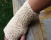 Fingerless gloves wrist warmer gloves