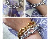 Jessica- Multi-texture Bracelet in Silver