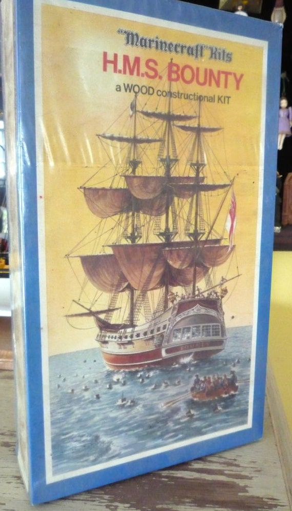 Vintage Marinecraft Model of H. M. S. Bounty  - wooden model made in Britian