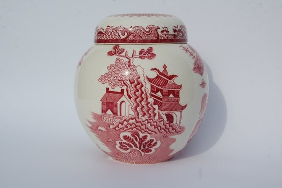 VINTAGE Ginger Jar Tea Caddy made by Mason's in England for Twining Co