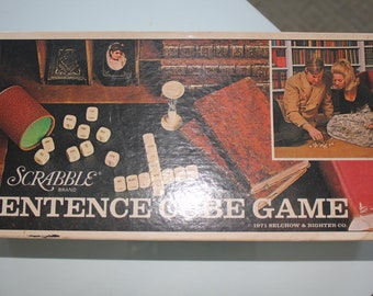 Vintage Sentence Game by Scrabble brand